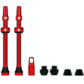 Muc-Off MTB & Road Tubeless Valve Kit 80mm, red